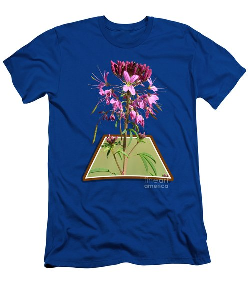 Rocky Mountain Bee Plant Men's T-Shirt (Slim Fit) by Shane Bechler