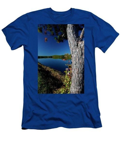 Ashley Reservoir Men's T-Shirt (Slim Fit) by Jim Gillen