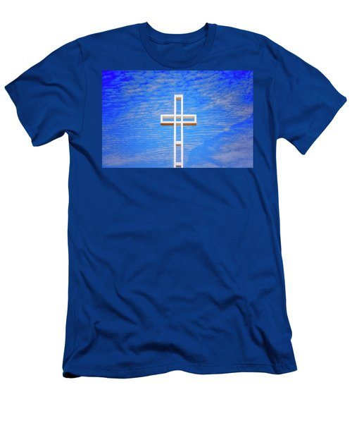 Cross In The Sky Men's T-Shirt (Athletic Fit)