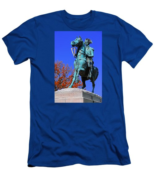 At The Battle Of Princeton Men's T-Shirt (Slim Fit) by Iryna Goodall