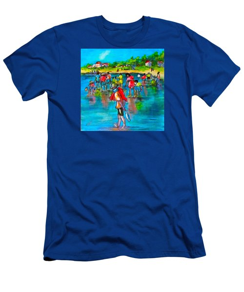 At The Beach Men's T-Shirt (Slim Fit) by Barbara O'Toole