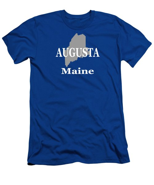 Augusta Maine City And Town Pride  Men's T-Shirt (Athletic Fit)