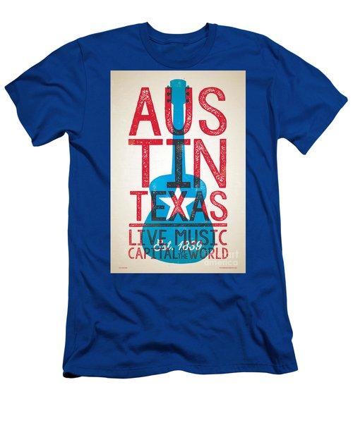 Austin Texas - Live Music Men's T-Shirt (Slim Fit) by Jim Zahniser