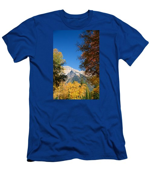 Autumn Peaks Men's T-Shirt (Slim Fit) by Lawrence Boothby