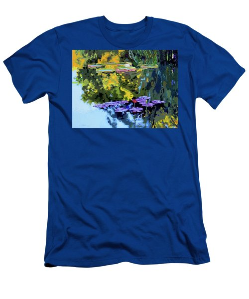 Autumn Reflections On The Pond Men's T-Shirt (Slim Fit) by John Lautermilch
