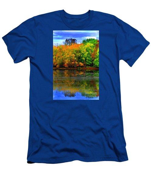 Autumn Sings Men's T-Shirt (Slim Fit) by Diane E Berry
