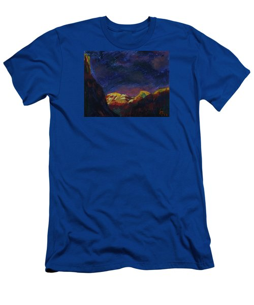 Autumn Sunset Over Half Dome 2013 A Men's T-Shirt (Slim Fit) by Walter Fahmy