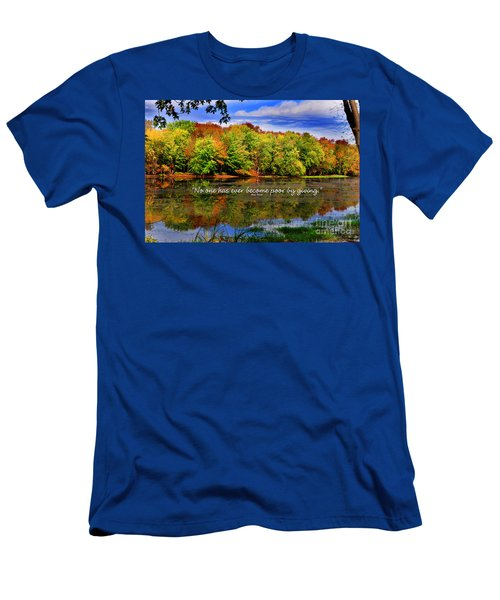 Autumn Wonders Giving Men's T-Shirt (Slim Fit) by Diane E Berry