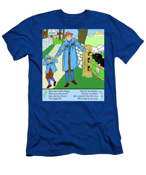 Men's T-Shirt (Athletic Fit) featuring the painting Baa, Baa, Black Sheep Nursery Rhyme by Marian Cates