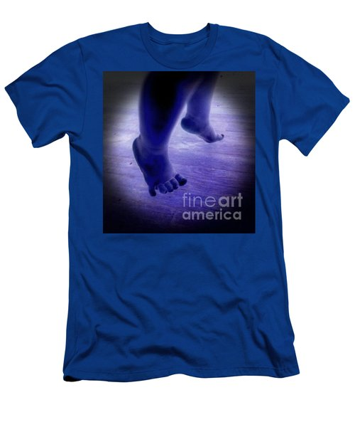 Baby Blu Dancing Royal Feet Men's T-Shirt (Athletic Fit)