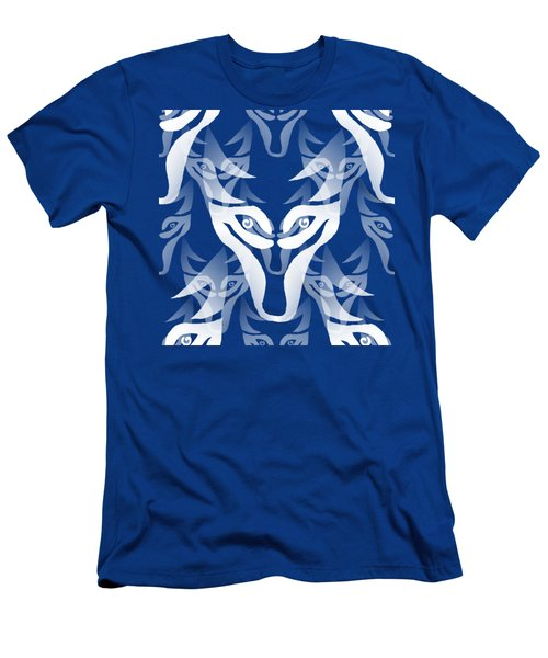 Background Choice White Wolf Men's T-Shirt (Slim Fit) by Barbara Moignard