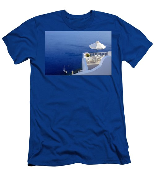 Balcony Over The Sea Men's T-Shirt (Athletic Fit)