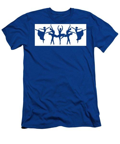 Ballerinas Dancing Silhouettes Men's T-Shirt (Athletic Fit)