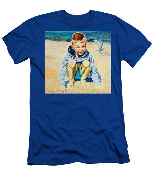 Baltic Beach Men's T-Shirt (Slim Fit) by Henryk Gorecki