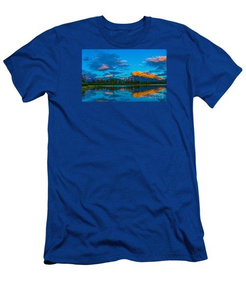 Banff Vermillion Lakes Men's T-Shirt (Slim Fit) by John Roberts