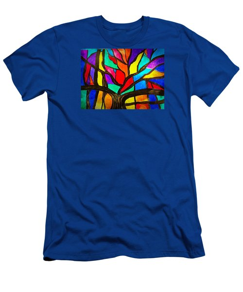 Banyan Tree Abstract Men's T-Shirt (Athletic Fit)