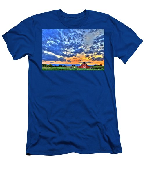 Barn And Sky Men's T-Shirt (Slim Fit) by Scott Mahon