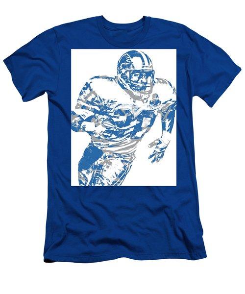 Barry Sanders Detroit Lions Pixel Art 1 Men's T-Shirt (Athletic Fit)