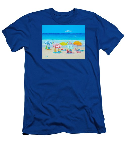 Beach Painting - Catching The Breeze Men's T-Shirt (Slim Fit) by Jan Matson