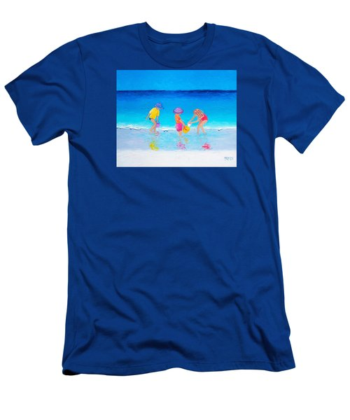 Beach Painting - Water Play  Men's T-Shirt (Athletic Fit)