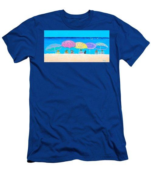 Beach Sands Perfect Tans Men's T-Shirt (Slim Fit) by Jan Matson