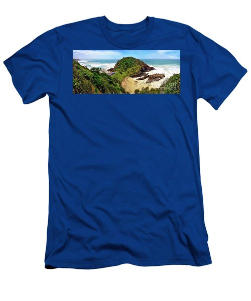 Beach View Panorama Nobby Head By Kaye Menner Men's T-Shirt (Athletic Fit)