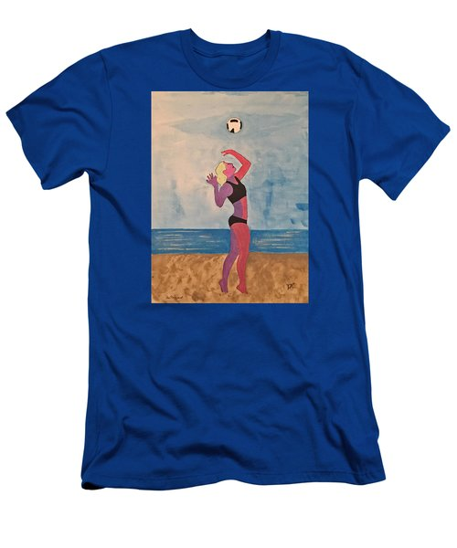 Beach Volleyball Men's T-Shirt (Athletic Fit)