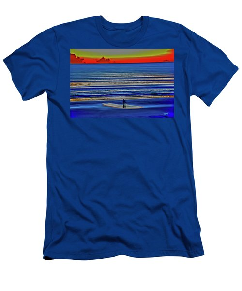 Beach Walking At Sunrise Men's T-Shirt (Athletic Fit)