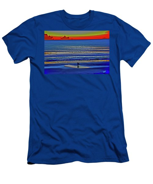 Beach Walking At Sunrise Men's T-Shirt (Athletic Fit)