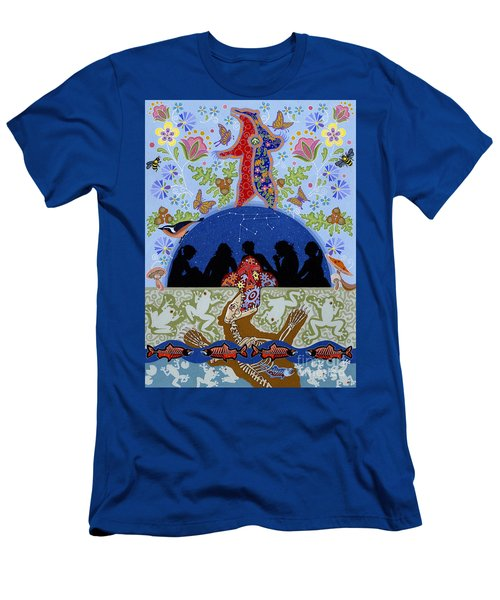 Men's T-Shirt (Athletic Fit) featuring the painting Bear Medicine by Chholing Taha