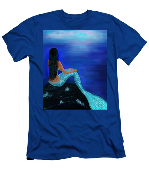 Men's T-Shirt (Athletic Fit) featuring the painting Beauty Of The Isle by Leslie Allen