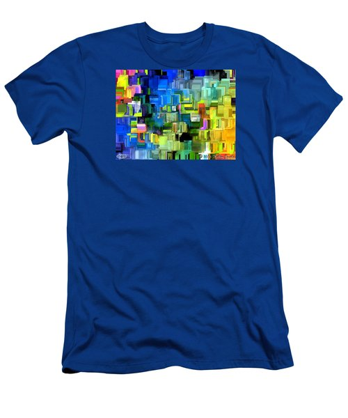 Men's T-Shirt (Slim Fit) featuring the painting Believe What You Say by Holley Jacobs