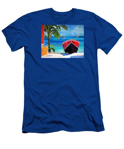 Belizean Dream Men's T-Shirt (Slim Fit) by Janet McDonald