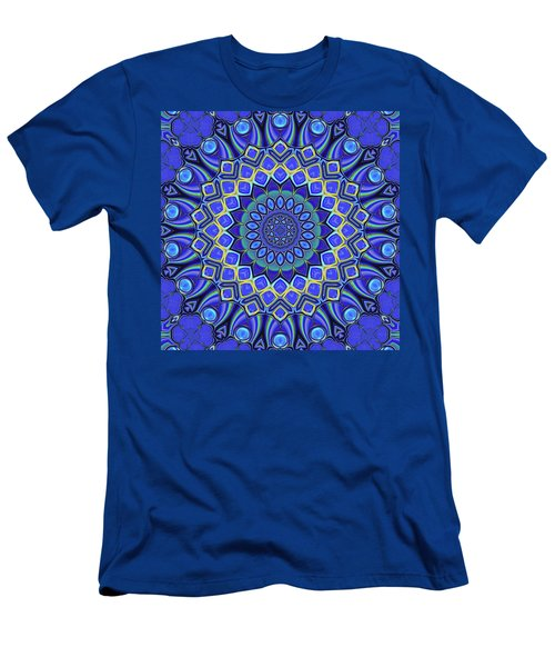 Men's T-Shirt (Slim Fit) featuring the digital art Bella - Blue by Wendy J St Christopher