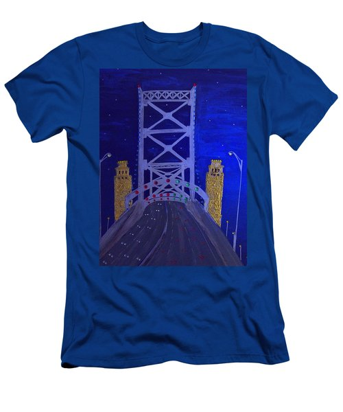 Ben Franklin Bridge Men's T-Shirt (Athletic Fit)