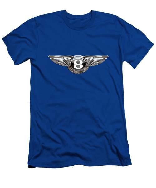 Bentley 3 D Badge Special Edition On Blue Men's T-Shirt (Athletic Fit)