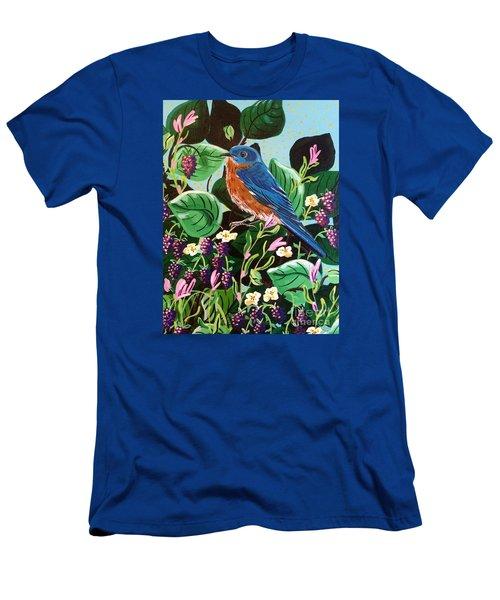 Berry Bluebird Men's T-Shirt (Athletic Fit)