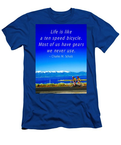 Bicycle Charles M Schulz Quote Men's T-Shirt (Athletic Fit)