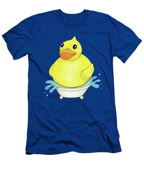 Big Happy Rubber Duck Men's T-Shirt (Athletic Fit)
