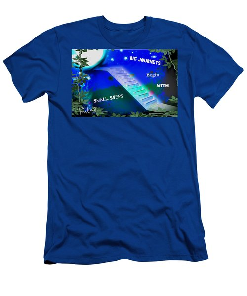 Big Journeys......small Steps Men's T-Shirt (Slim Fit) by Diana Riukas