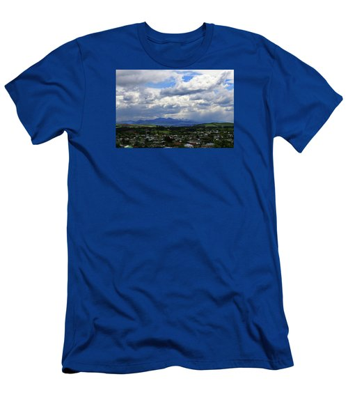 Men's T-Shirt (Athletic Fit) featuring the photograph Big Sky Over Oamaru Town by Nareeta Martin