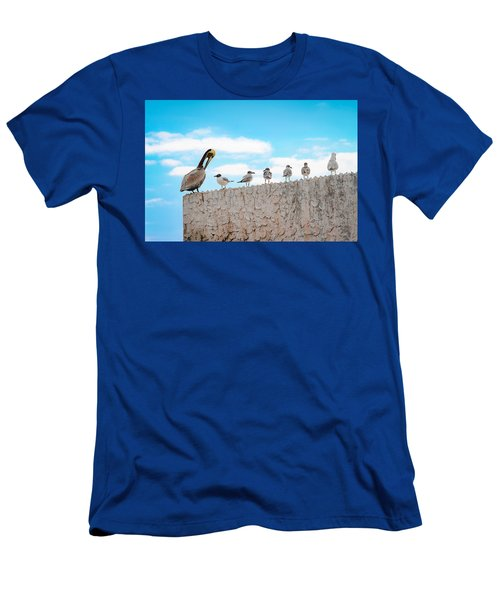 Birds Catching Up On News Men's T-Shirt (Athletic Fit)