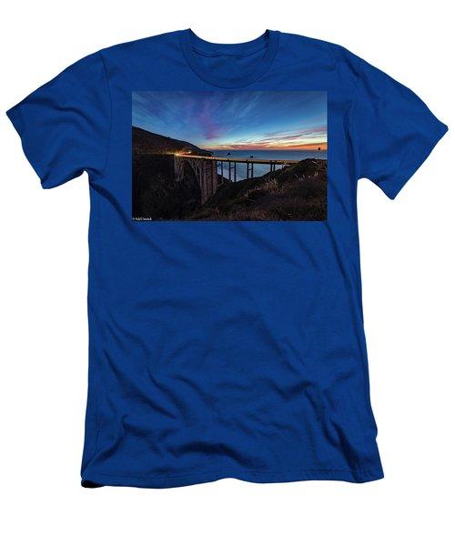 Bixby Bridge Sunset Men's T-Shirt (Athletic Fit)