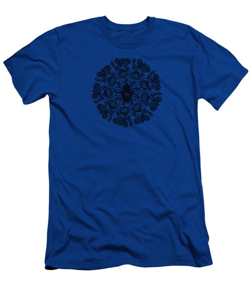 Black And White Hamsa Mandala- Art By Linda Woods Men's T-Shirt (Athletic Fit)