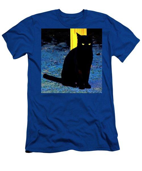 Black Cat Yellow Eyes Men's T-Shirt (Athletic Fit)