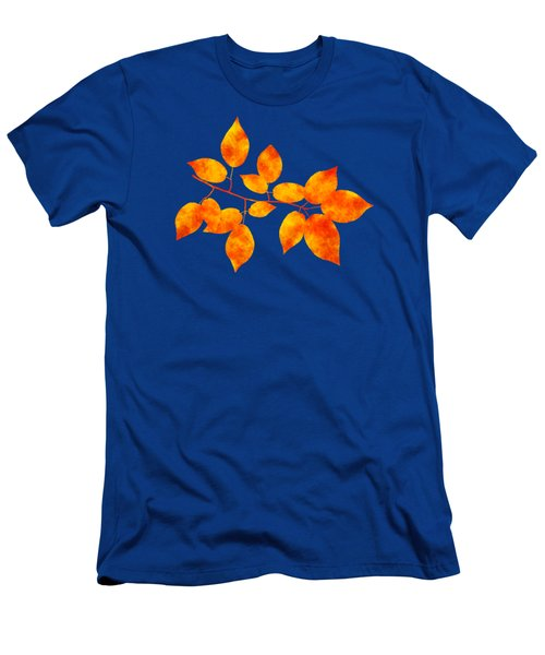 Black Cherry Pressed Leaf Art Men's T-Shirt (Athletic Fit)