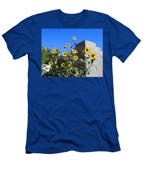 Men's T-Shirt (Athletic Fit) featuring the photograph Blackeyed Susans And Adobe by Joseph R Luciano