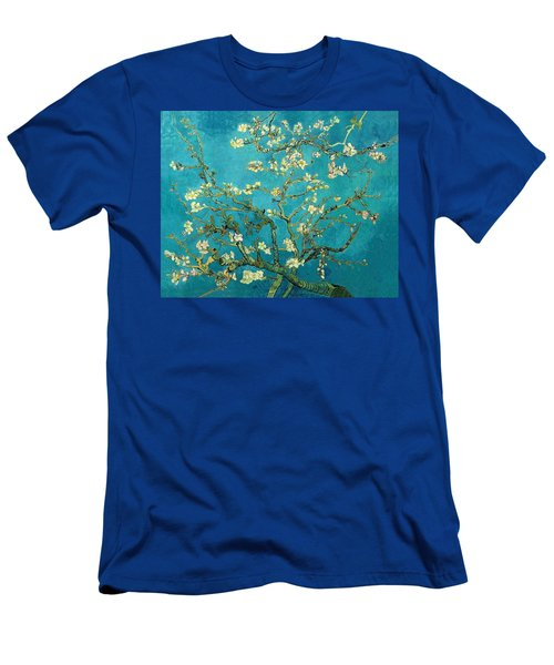 Men's T-Shirt (Athletic Fit) featuring the painting Blossoming Almond Tree by Van Gogh