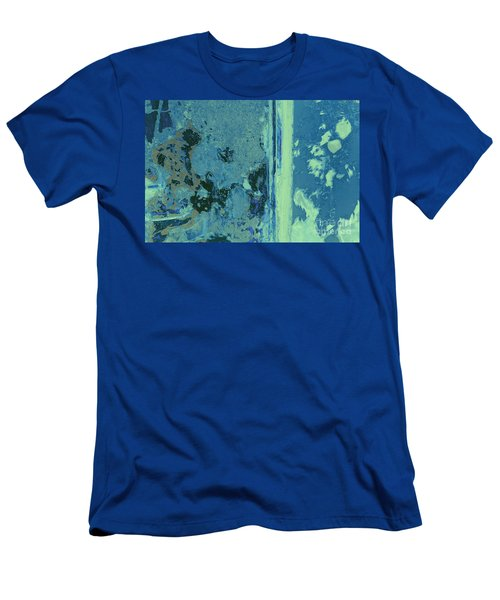 Blue Abstraction Men's T-Shirt (Athletic Fit)