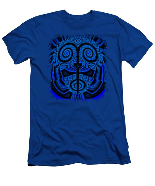 Blue And Black Mask 2 Men's T-Shirt (Athletic Fit)